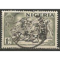 Нигерия. Всадники племени Борну. 1953г. Mi#72.