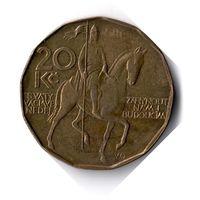 Чехия. 20 крон. 1993 г.