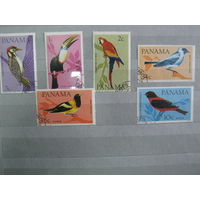 Марки - фауна, птицы, Панама