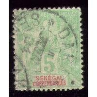 1 марка 1892 год Сенегал 11 2