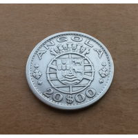 Ангола португальская, 20 эскудо 1952 г., серебро