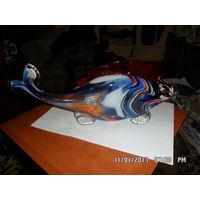 Статуэтка рыбка цветное стекло