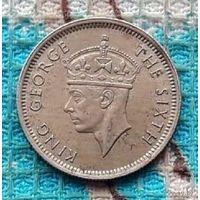Колония Малайзия 10 центов 1950 года, UNC. Король Георг VI.