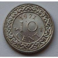 Суринам 10 центов, 1972 г.