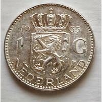 Нидерланды 1 гульден, 1965  1-5-15