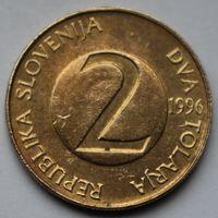 Словения, 2 толара 1996 г