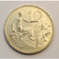 Чехословакия, 10 крон 1932 год, Серебро