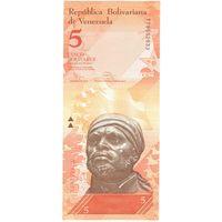 YS: Венесуэла, 5 боливаров 2014, P# 89f, UNC