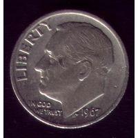 1 дайм 1967 год США