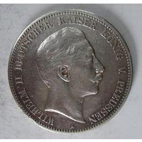 Германия. 5 марок 1907 серебро. Пруссия.  V.01
