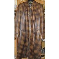 Кожаное пальто, р-р 50-52, очень дешево продаю