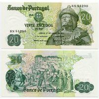 Португалия. 20 эскудо (образца 1971 года, P173, подпись 4, UNC)
