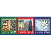 2009 Латвия 775-777 Рождество серия **