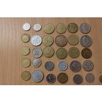 Подборка иностранных монет- 30 штук.