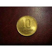 10 сентаво 1992 года Аргентина