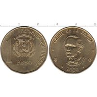 Доминиканская республика 1 песо 2002 UNC