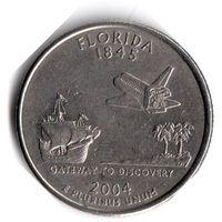 США. 1/4 доллара (1 квотер, 25 центов). 2004. Флорида. P