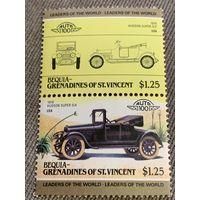 Бекия. Сент-Винсент и Гренадины. Автомобили мира. Hudson Super Six 1916. Марка из серии