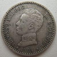 Испания 50 сентимос 1904 г. Цена за 1 шт. (d)
