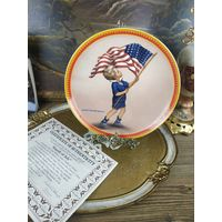 Декоративная тарелка фарфор номерная коллекционная fourth of july knowles