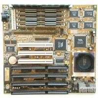 LuckyStar 5V-2 ver.1.0 + 4 SIMM 32 mb EDO + 16 mb PC-66 + p166 MMX Box (без вентилятора)
