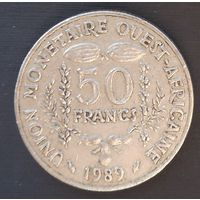 Западные Африканские штаты 50 франков 1989