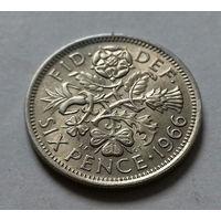 6 пенсов, Великобритания 1966 г.