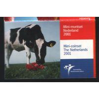 Нидерланды годовой набор 2001 года (minicoins) (f31)*