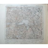 Оригинальная немецкая карта Дрисвяты (Браславский р-н) 1921г