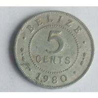 Белиз 5 центов 1980