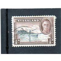 Ньясаленд.Ми-70. Король Георг VI и Каноэ на озере Ньяса. 1945