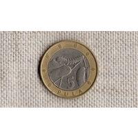 Ботсвана  5 пула 2007 /биметалл/фауна//FV/