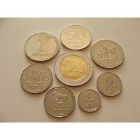 Грузия. набор 8 монет 1, 2, 5, 10, 20 Тетри 1993 год, 50 Тетри 2006 год  и 1, 2 Лари 2006 год