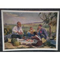 Колояров Г. В гостях у деда. Соцреализм. 1955 г. Чистая.