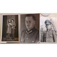 Портретные фото 3 рейх, Германия, 3 шт., РАД, вермахт, одним лотом, открыточный формат!