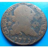 Испания 8 мараведи 1775 года (диаметр около 35 мм)