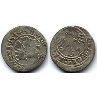 Полугрош 1514, Жигимонт Старый, Вильно. Окончания легенд: Ав - ':1514:', Рв - 'LITVANIE?'