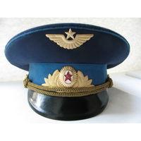 Фуражка офицерская парадная ВДВ и ВВС СССР. Коминтерн, 1978, 56 размер.