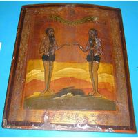 Икона Святые Петр и Онуфрий XIX В38