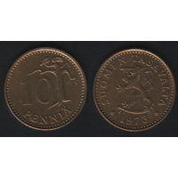 Финляндия km46 10 пенни 1973 год (S) (f31)*