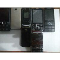 Лот мобильных телефонов на запчасти