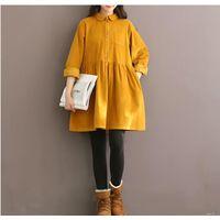Желтое вельветовое платье 44 р-р