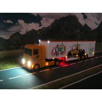 Модель грузового автомобиля Renault Magnum освещением (LED). Масштаб HO-1:87.