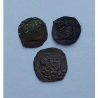 Денарий 11-13 век, Германия!!! 3 монеты!!! Все редкие!!! Состояние!!! С 1 рубля!!! Без МЦ!!! 100% оригинал!!!