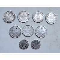 Лот монет Царского серебра с рубля!