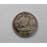 Фиджи 1 шиллинг 1943 г. серебро