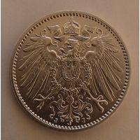 Германия 1 марка, 1914г.(J). 900пр., Гамбург.