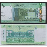 Распродажа коллекции. Судан. 10 фунтов 2011 года (P-73a - 2011-2017 Modified Color Issue)