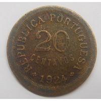 Португалия 20 сентаво 1924 г