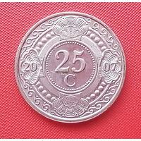65-33 Антильские острова, 25 центов 2007 г. Единственное предложение монеты данного года на АУ